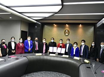 พิธีลงนามบันทึกข้อตกลงความร่วมมือทางวิชาการ (MOU) ระหว่างมหาวิทยาลัยราชภัฏสวนสุนันทาและองค์การบริหารส่วนจังหวัดปทุมธานี